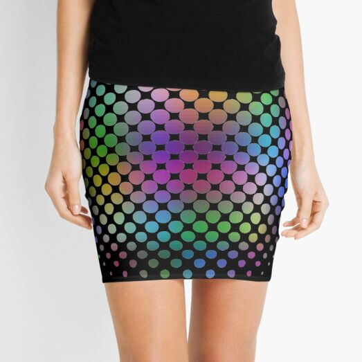 Radial Dot Gradient Mini Skirt