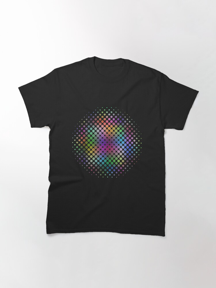Alternate view of Radial Dot Gradient Classic T-Shirt