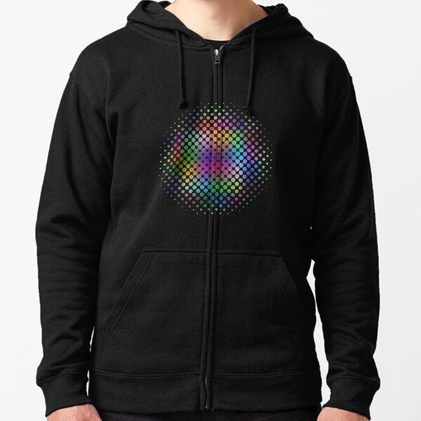 Radial Dot Gradient Zipped Hoodie