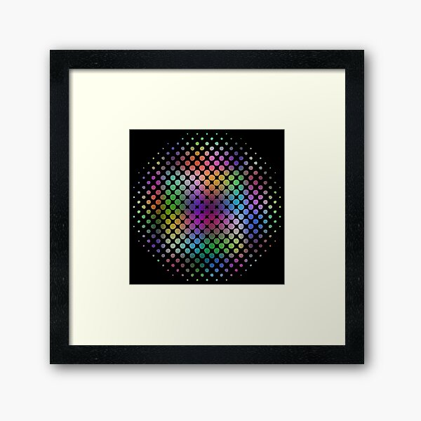 Radial Dot Gradient Framed Art Print