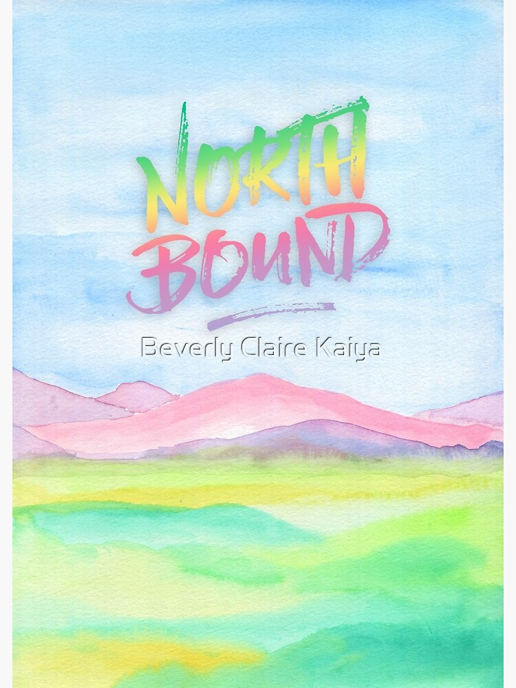 North Bound Pink Purple Mountains Watercolor Painting by beverlyclaire