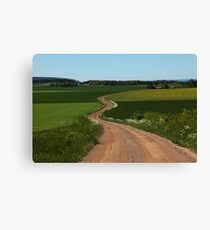 Cricket Dirt Road Canvas Print