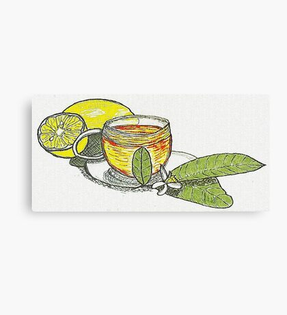 Tea with Lemons Canvas Print