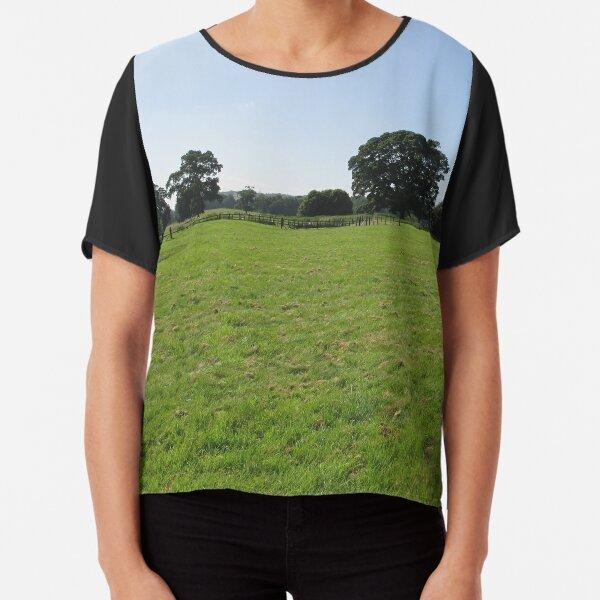 M.I. #117 |☼| Distant Love Heart Pareidolia Trees (Hadrian's Wall) Chiffon Top