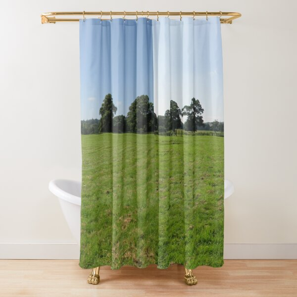M.I. #117  ☼  Distant Love Heart Pareidolia Trees (Hadrian's Wall) Shower Curtain