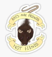 Rats are friends not fiends Sticker