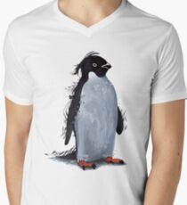 Winter Penguin Men's V-Neck T-Shirt