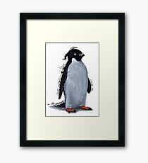 Winter Penguin Framed Print