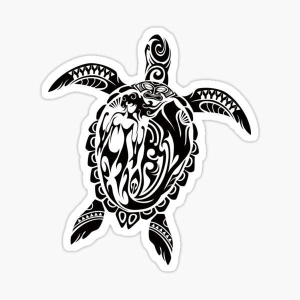 Tribal Honu Sticker