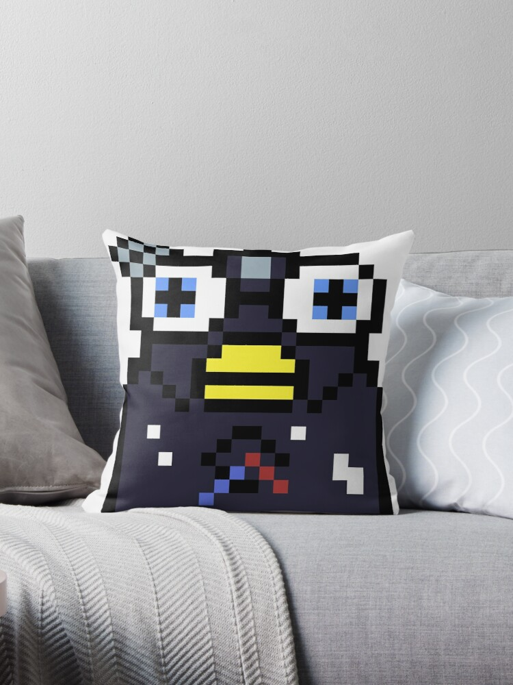 Endoskeleton Furby Glitch Throw Pillows By Dylanjaso Redbubble