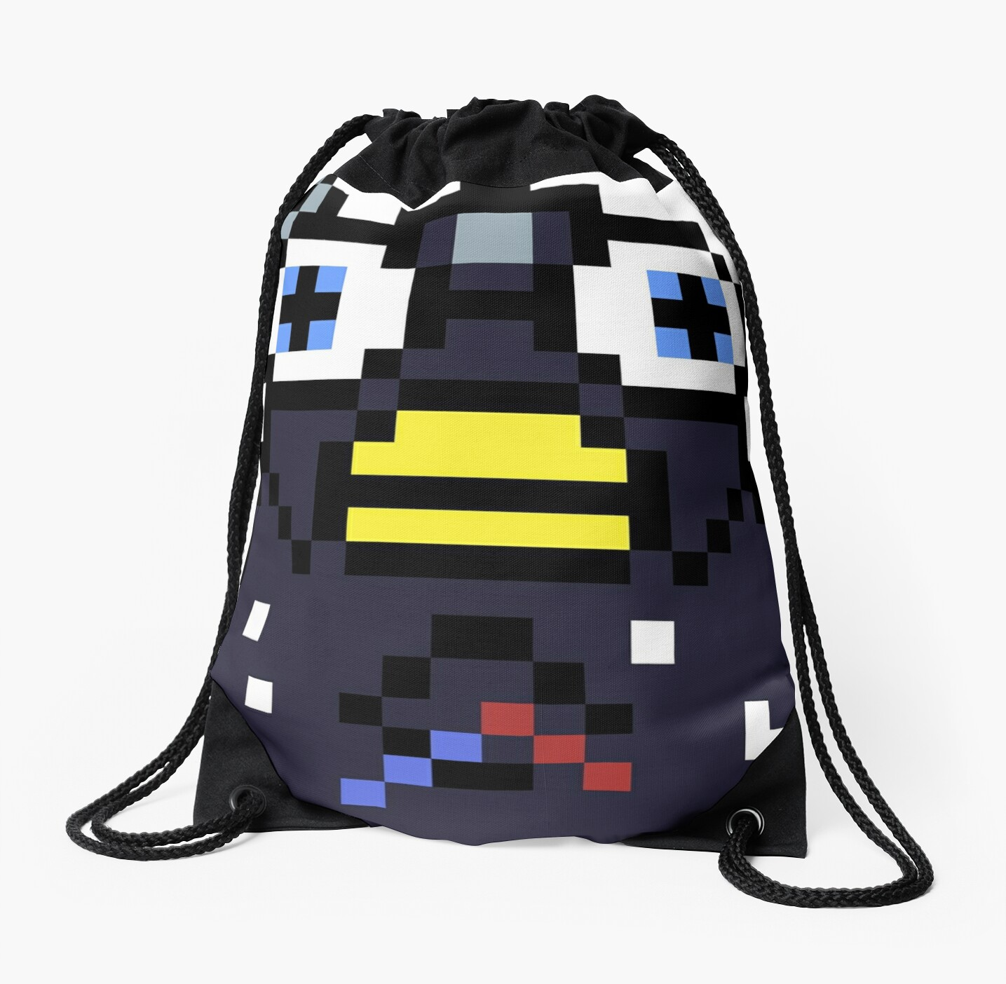 Endoskeleton Furby Glitch Drawstring Bag By Dylanjaso Redbubble