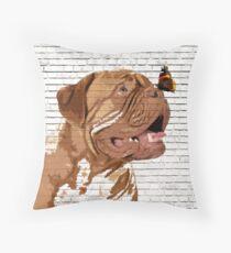 Dogue De Bordeaux Butterfly  Throw Pillow