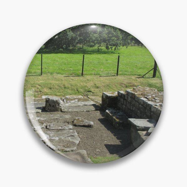 Merch #118 -- Abundant Trees Beyond Rocky Remains - Shot 1 (Hadrian's Wall) Pin
