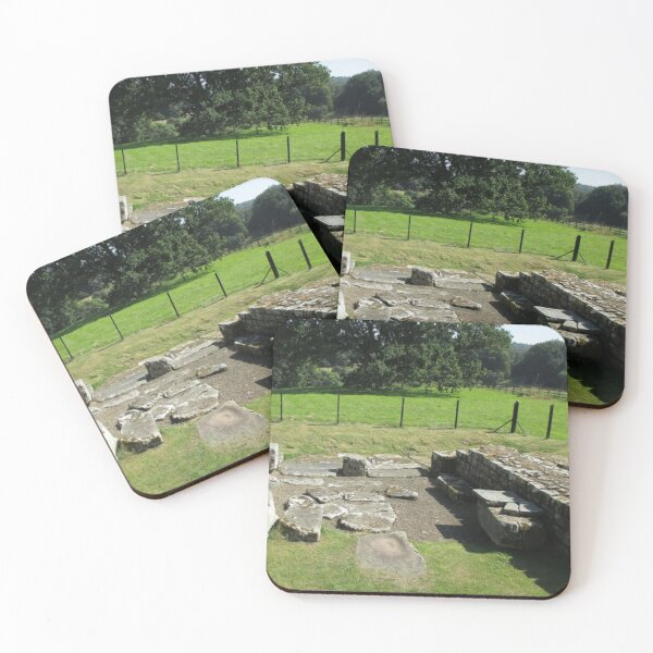 M.I. #118  ☼  Abundant Trees Beyond Rocky Remains - Shot 1 (Hadrian's Wall) Coasters (Set of 4)