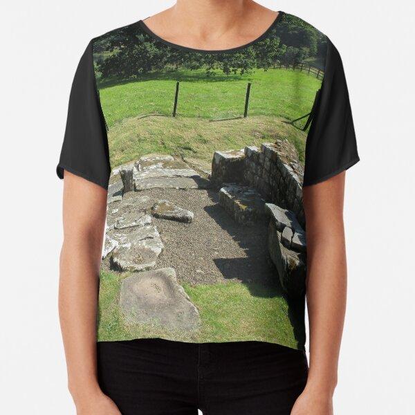 M.I. #118 |☼| Abundant Trees Beyond Rocky Remains - Shot 1 (Hadrian's Wall) Chiffon Top