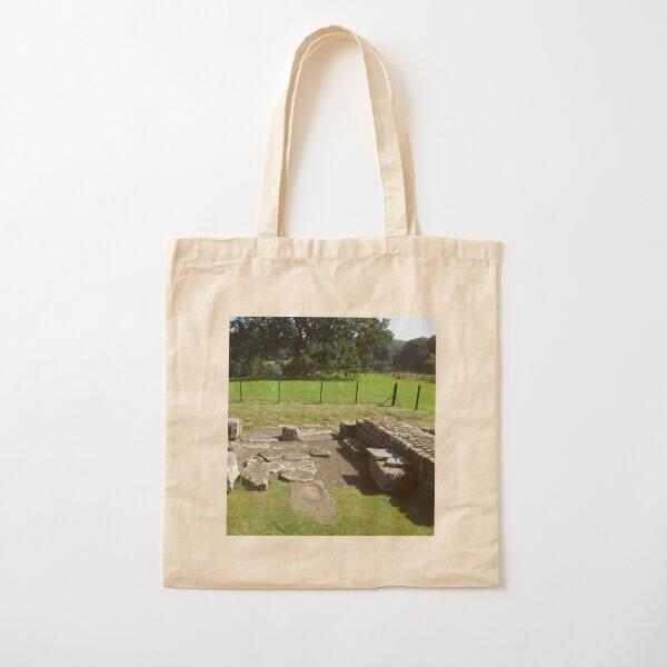 M.I. #118 |☼| Abundant Trees Beyond Rocky Remains - Shot 1 (Hadrian's Wall) Cotton Tote Bag