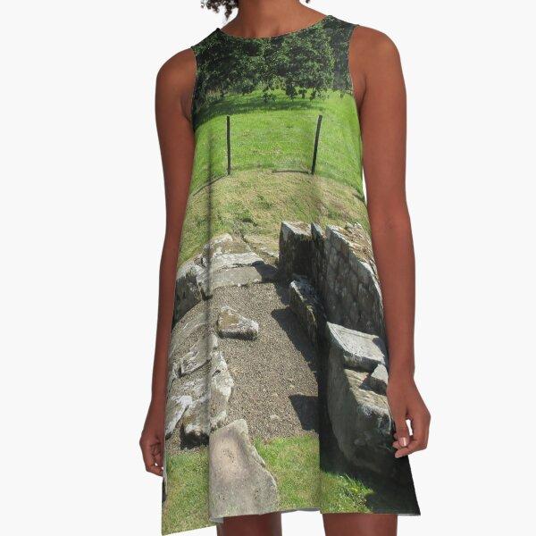 M.I. #118  ☼  Abundant Trees Beyond Rocky Remains - Shot 1 (Hadrian's Wall) A-Line Dress