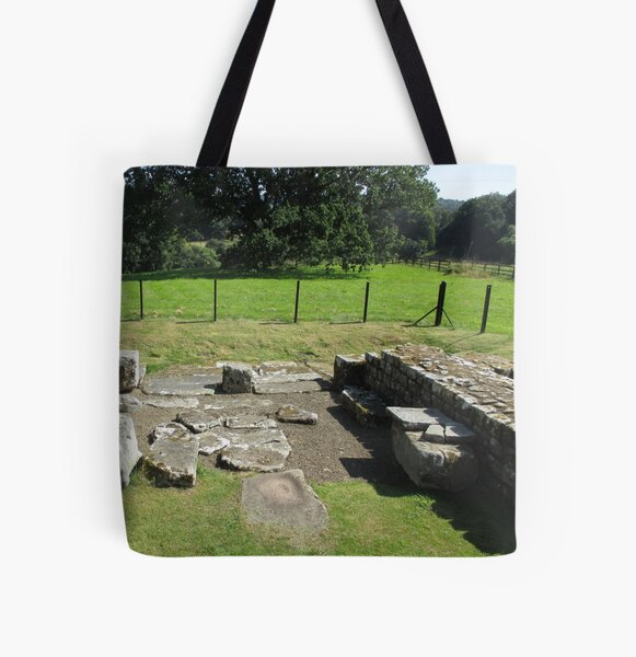 M.I. #118 |☼| Abundant Trees Beyond Rocky Remains - Shot 1 (Hadrian's Wall) All Over Print Tote Bag
