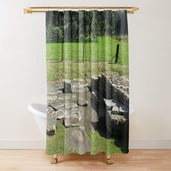 M.I. #118  ☼  Abundant Trees Beyond Rocky Remains - Shot 1 (Hadrian's Wall) Shower Curtain
