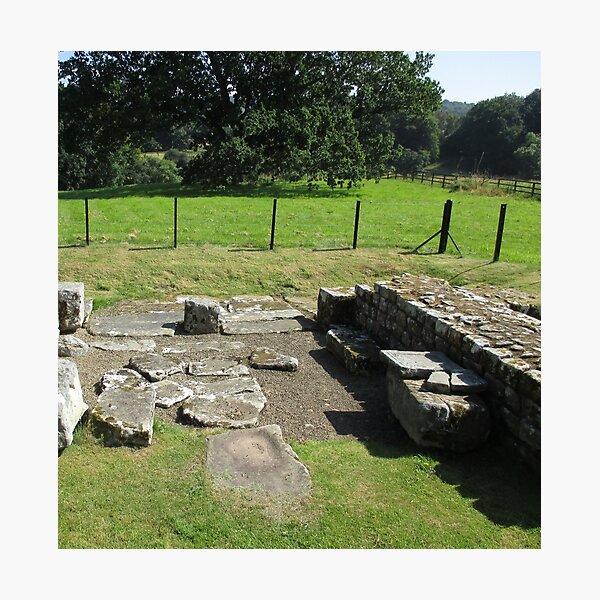 M.I. #118  ☼  Abundant Trees Beyond Rocky Remains - Shot 1 (Hadrian's Wall) Photographic Print