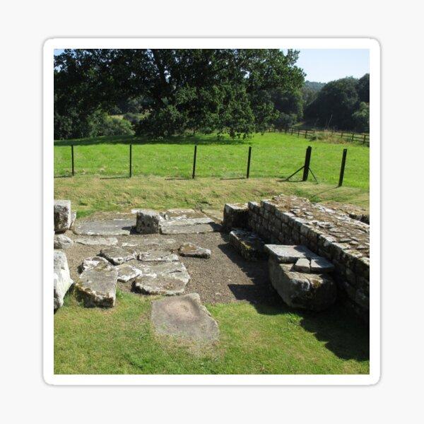 M.I. #118  ☼  Abundant Trees Beyond Rocky Remains - Shot 1 (Hadrian's Wall) Sticker