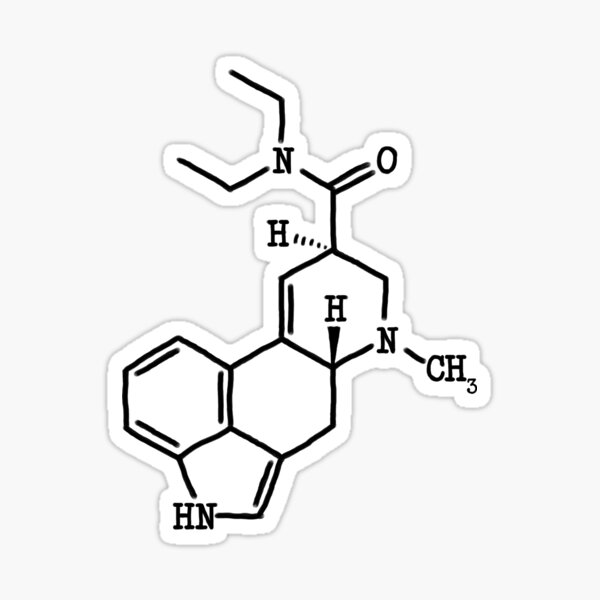 LSD - Estructura Molecular Pegatina