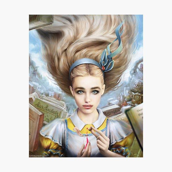 Alice In Wonderland, Portrait Photographic Print