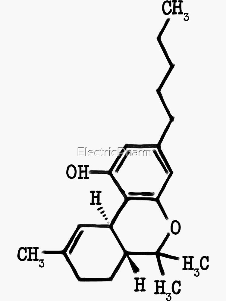 Marijuana - THC Molecular Structure by ElectricPharm