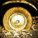 Vintage old wheel of classic car by Nhan Ngo