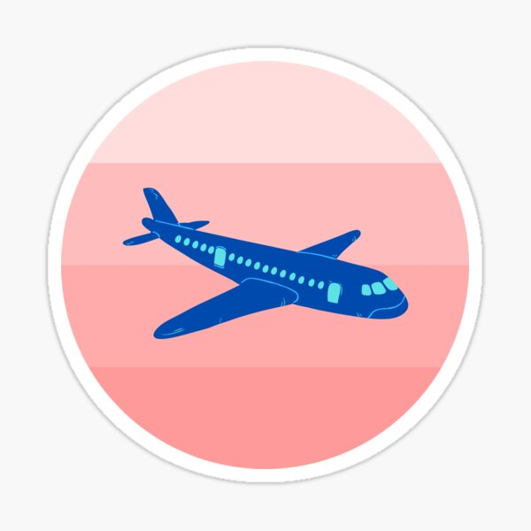 Fly Away and Travel the World Sticker