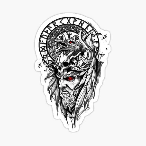 VIKINGxCROW Wrath Sticker