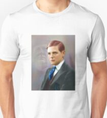 Colorized Vintago Portrait of Young Winston Churchull Unisex T-Shirt