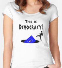 This democracy anti EU referendum ukip Women's Fitted Scoop T-Shirt