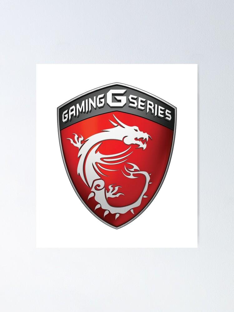 Msi Gaming Logo Poster By Xrikxs Redbubble