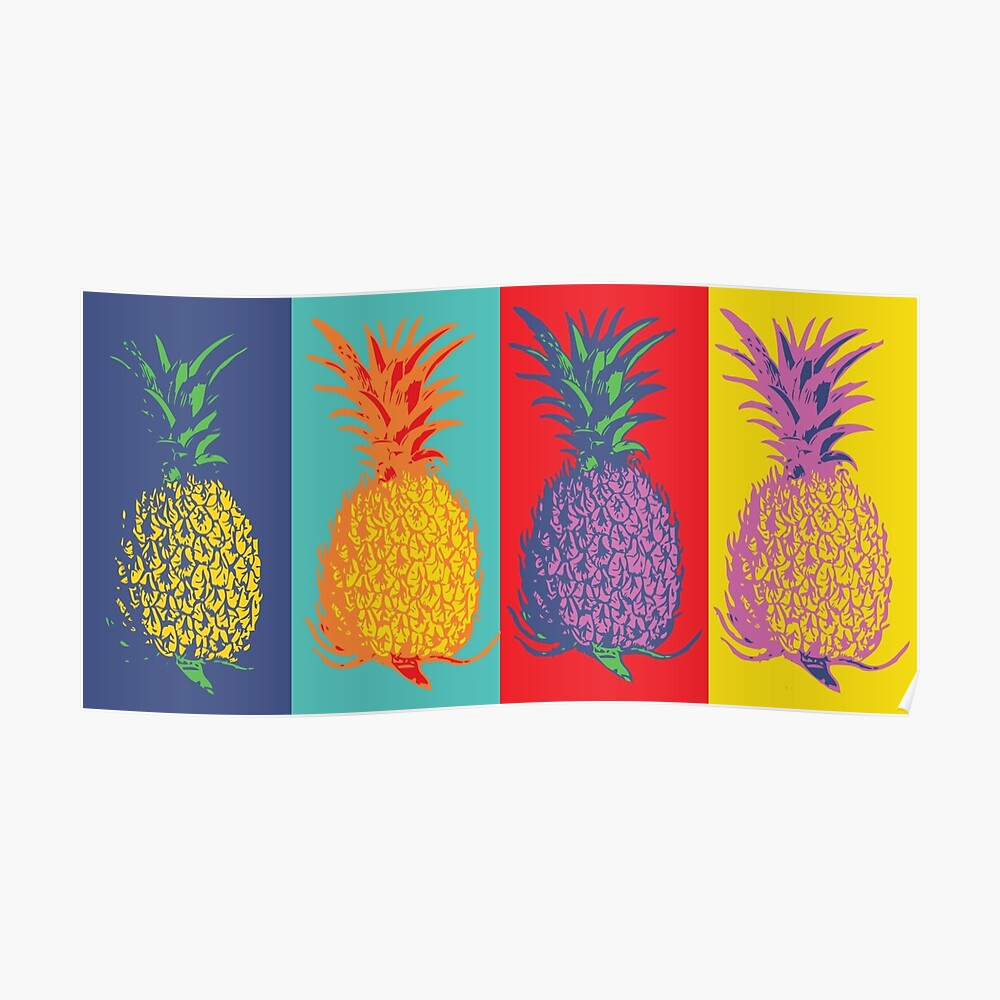 Ananas Pop-Art Poster