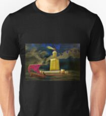 A digital painting of Pharos One of the Seven Wonders of the Ancient World Unisex T-Shirt
