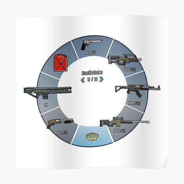 Rueda de armas de GTA V * CALIDAD SUPERIOR * Póster