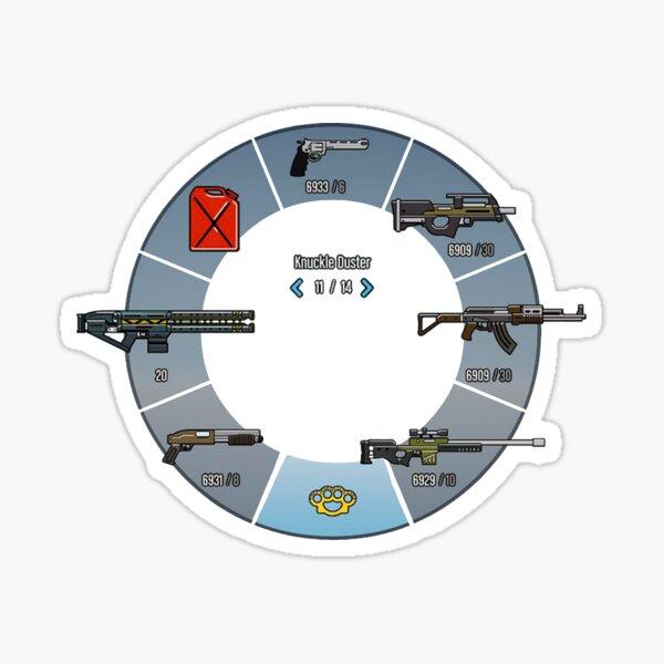 GTA V Weapon Wheel *TOP QUALITY* Sticker