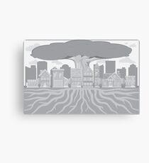 Minimalist Suburb Canvas Print