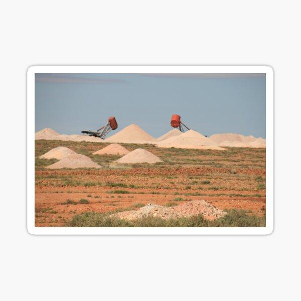 The opal fields, Coober pedy,S.A. Sticker