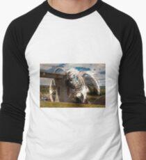 Falkirk Wheel Collage Baseball ¾ Sleeve T-Shirt