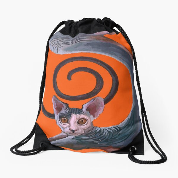 Sphynx Spanked Drawstring Bag