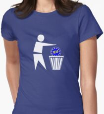 Put the EU in the bin ukip Womens Fitted T-Shirt