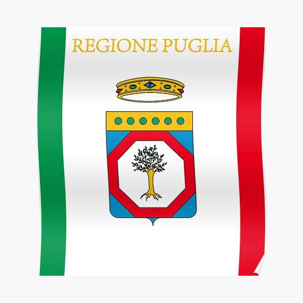 Bandiera Puglia Flag Puglia Poster