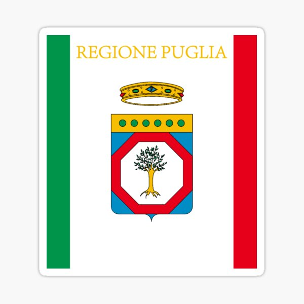 Bandiera Puglia Flag Puglia Sticker