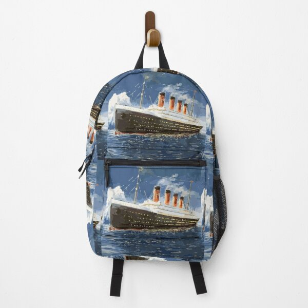 The most popular ship of all times, Titanic. Backpack