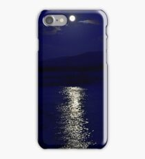 Moon in blue iPhone Case/Skin