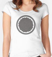 Sunflower Fibonacci Fractal Spiral Women's Fitted Scoop T-Shirt