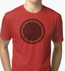 Sunflower Fibonacci Fractal Spiral Tri-blend T-Shirt