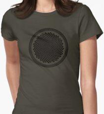 Sunflower Fibonacci Fractal Spiral Womens Fitted T-Shirt